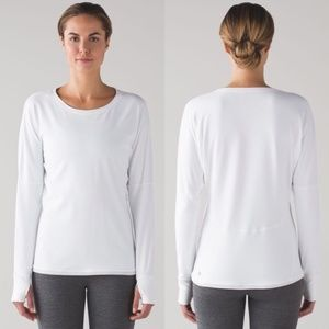 Lululemon gear up white long sleeve warm